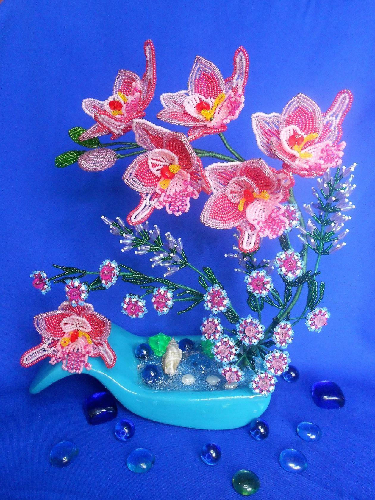 бисеры плетение картинка с цветами соседним столиком