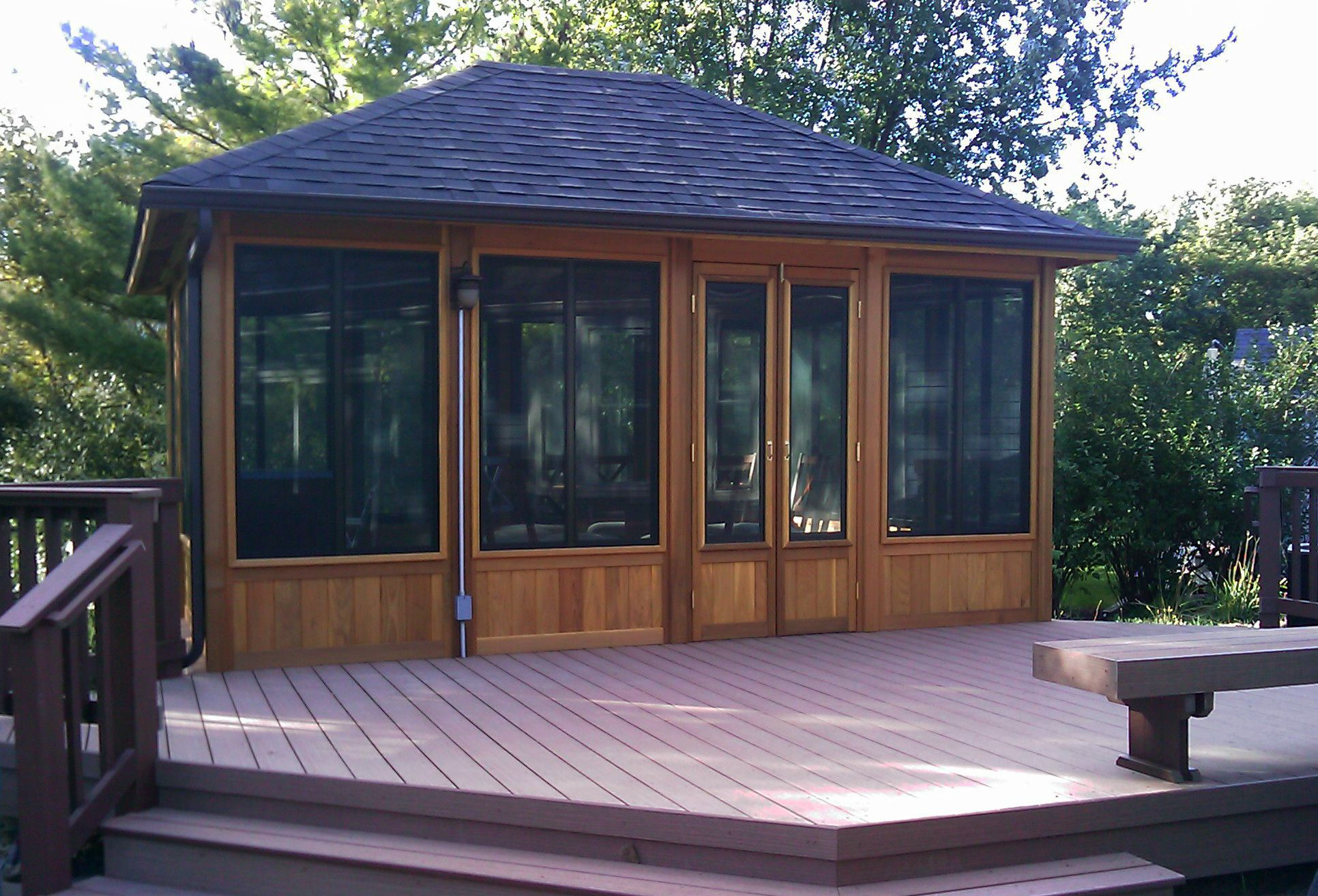 Screened Gazebo Design By Chicago Area
