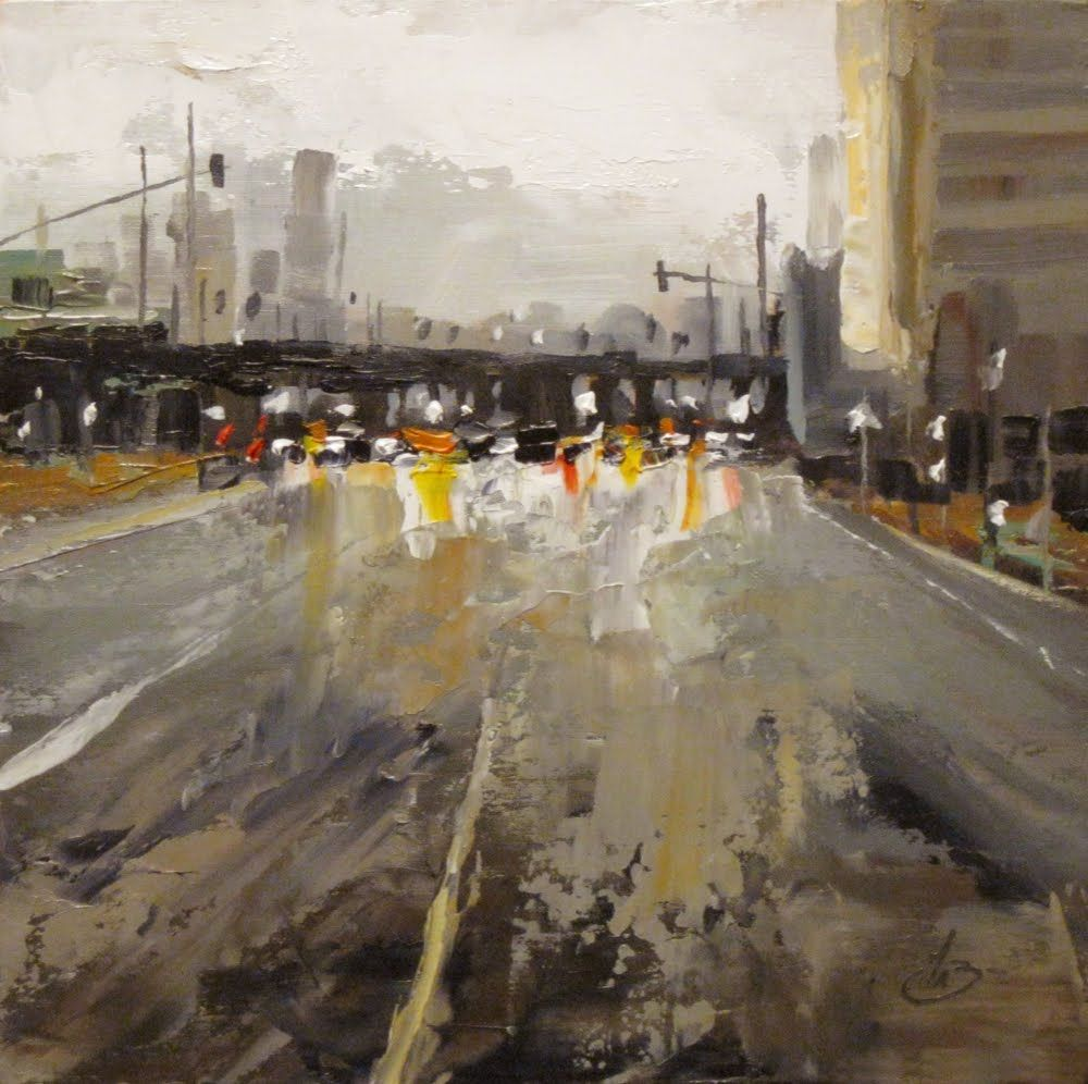 Tom Brown Fine Art Street City Buildings Tom Brown Contemporary Urban Landscape Urban Painting Urban Landscape Abstract City