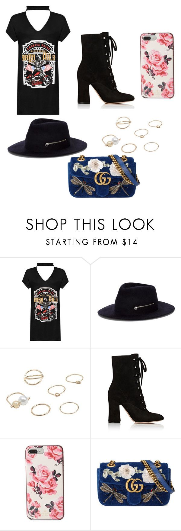 """""""Untitled #288"""" by alexandriamcbride on Polyvore featuring WearAll, Larose, MANGO, Gianvito Rossi, Kate Spade and Gucci"""