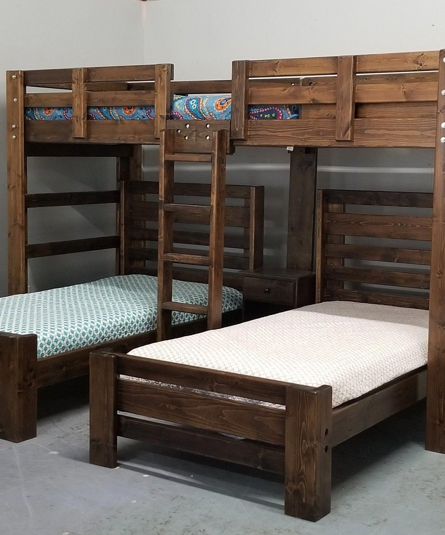 Audrey Triple Bunk Bed in White in 2020 (With images