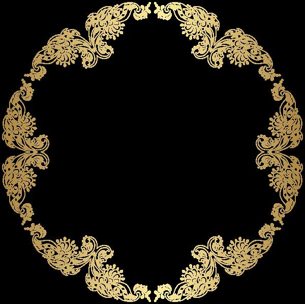 floral gold round border png transparent clip art proyek