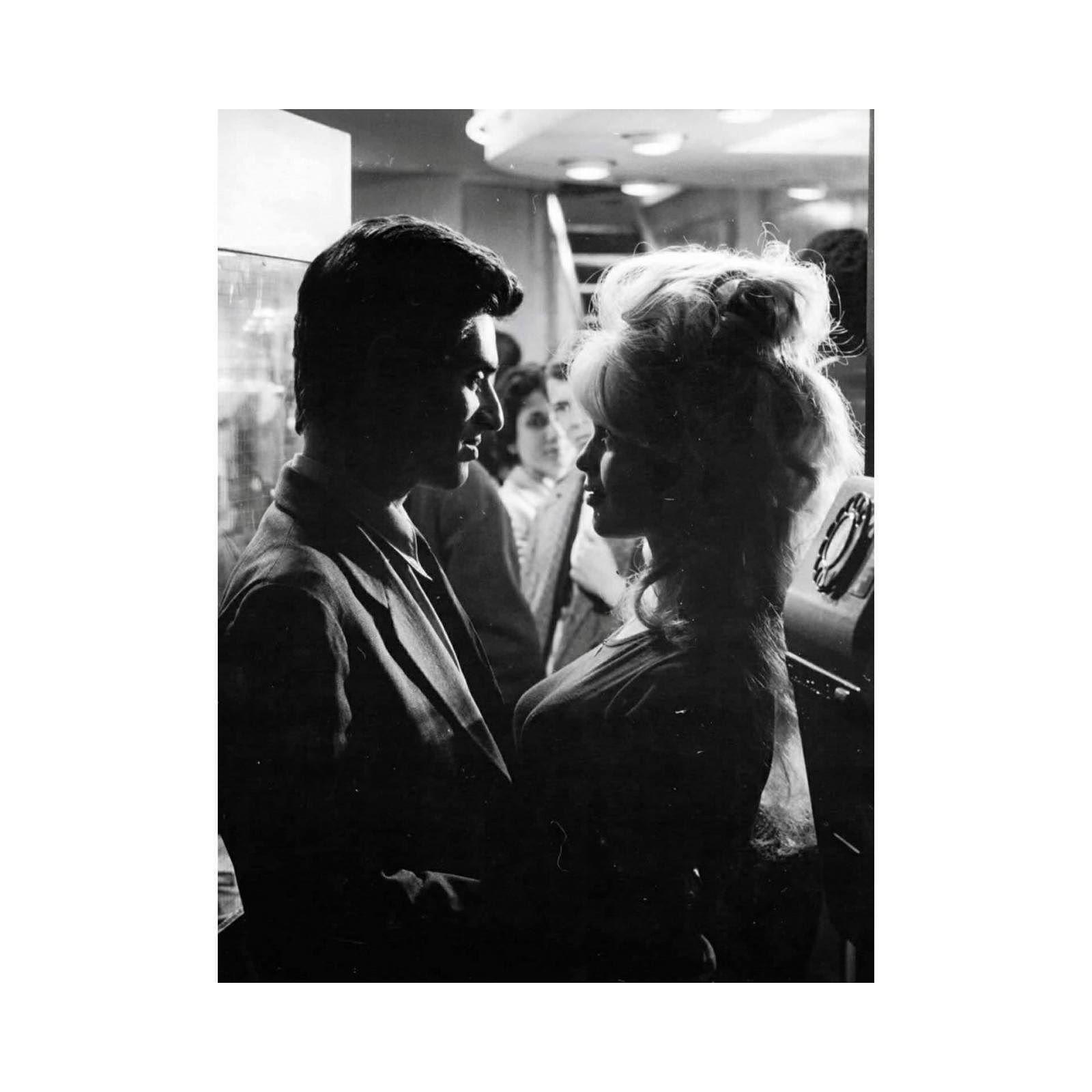 Sami Frey and Brigitte Bardot in La vérité directed by Henri-George Clouzot 1960.  #samifrey #brigittebardot #60s #movie #french #couple #love #bw #mcm #weekend #film #chic #menswear #icon #inspiration #instamood #mood