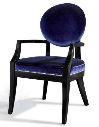 Armani Xavira Blue Fabric Desk Chair (2 chairs)