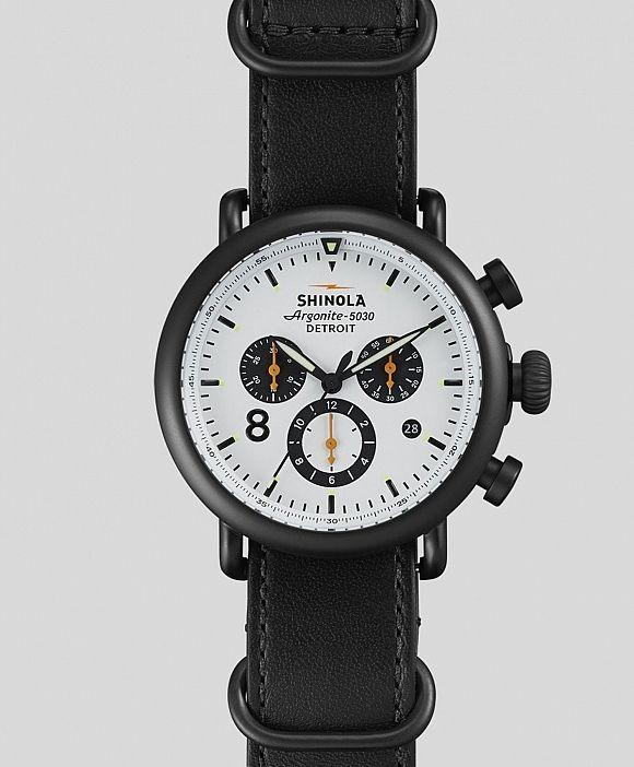 Runwell Contrast Chronograph Watch by Shinola