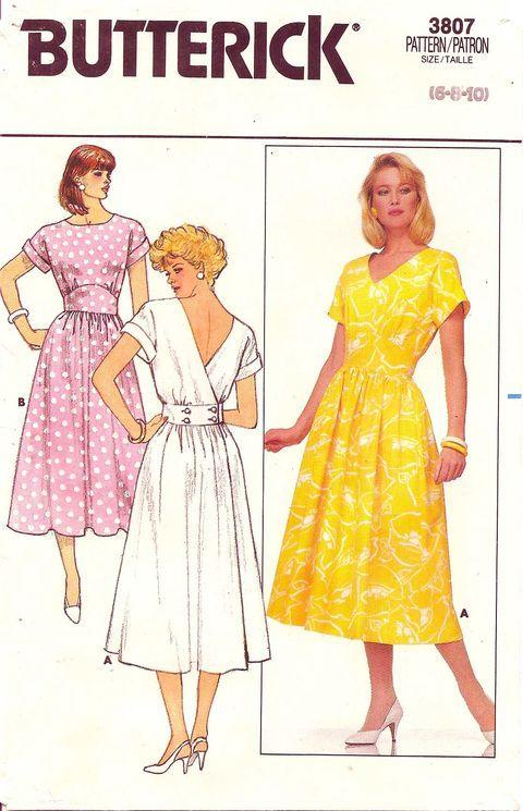 Butterick 3807 Vintage Sewing Patterns Vintage Sewing