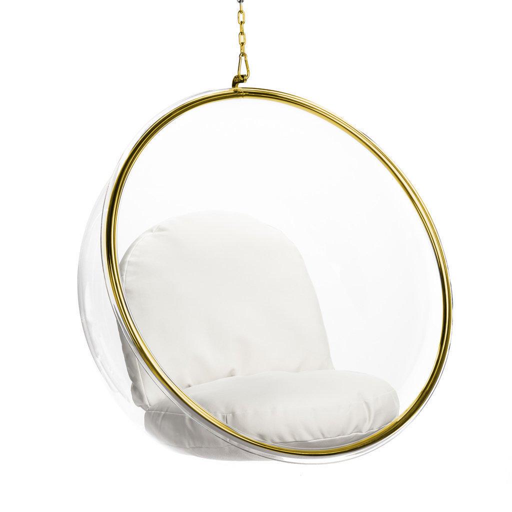 Eero Aarnio Bubble Chair Gold Special Edition Bubble Chair Hanging Chair Living Room Chairs