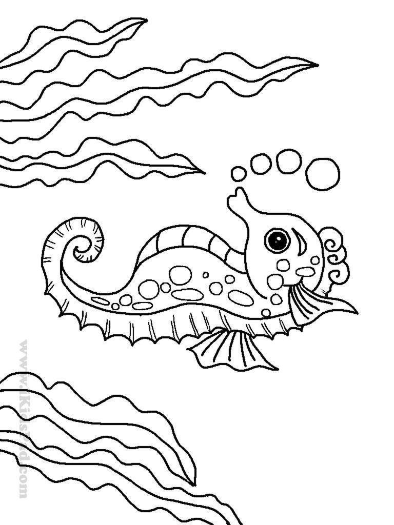 Nazvanie Raskraska Morskoj Konek I Vodorosli Kategoriya Okean Tegi Konek Vodorosli Puzy Ocean Coloring Pages Monster Coloring Pages Animal Coloring Books