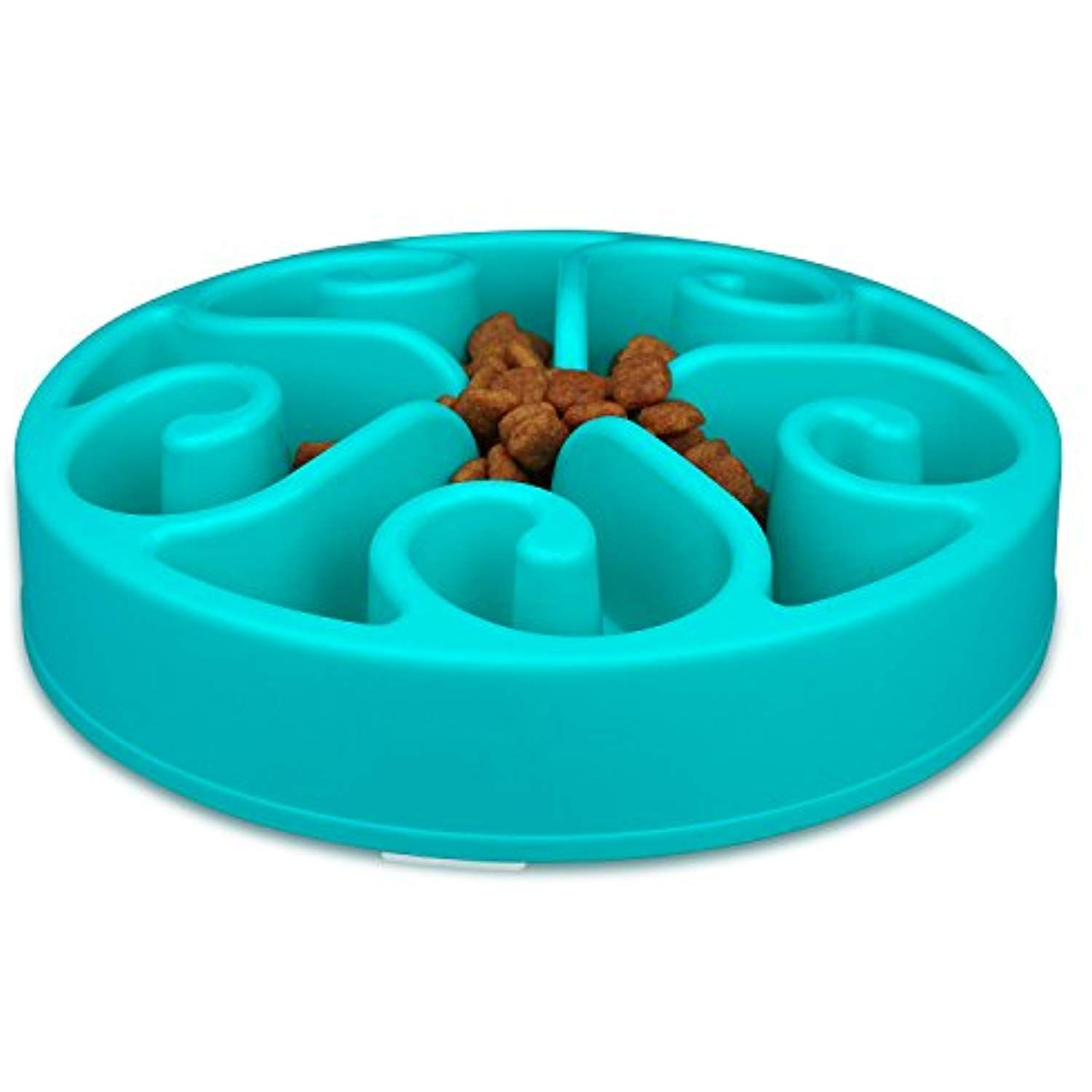 Wangstar Slow Feed Dog Bowl 8 Inch Bloat Stop Dog Puzzle Bowl