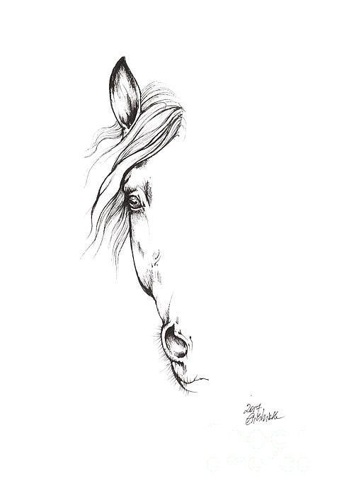 #angel #eines #horse tattoo #von #zeichnung