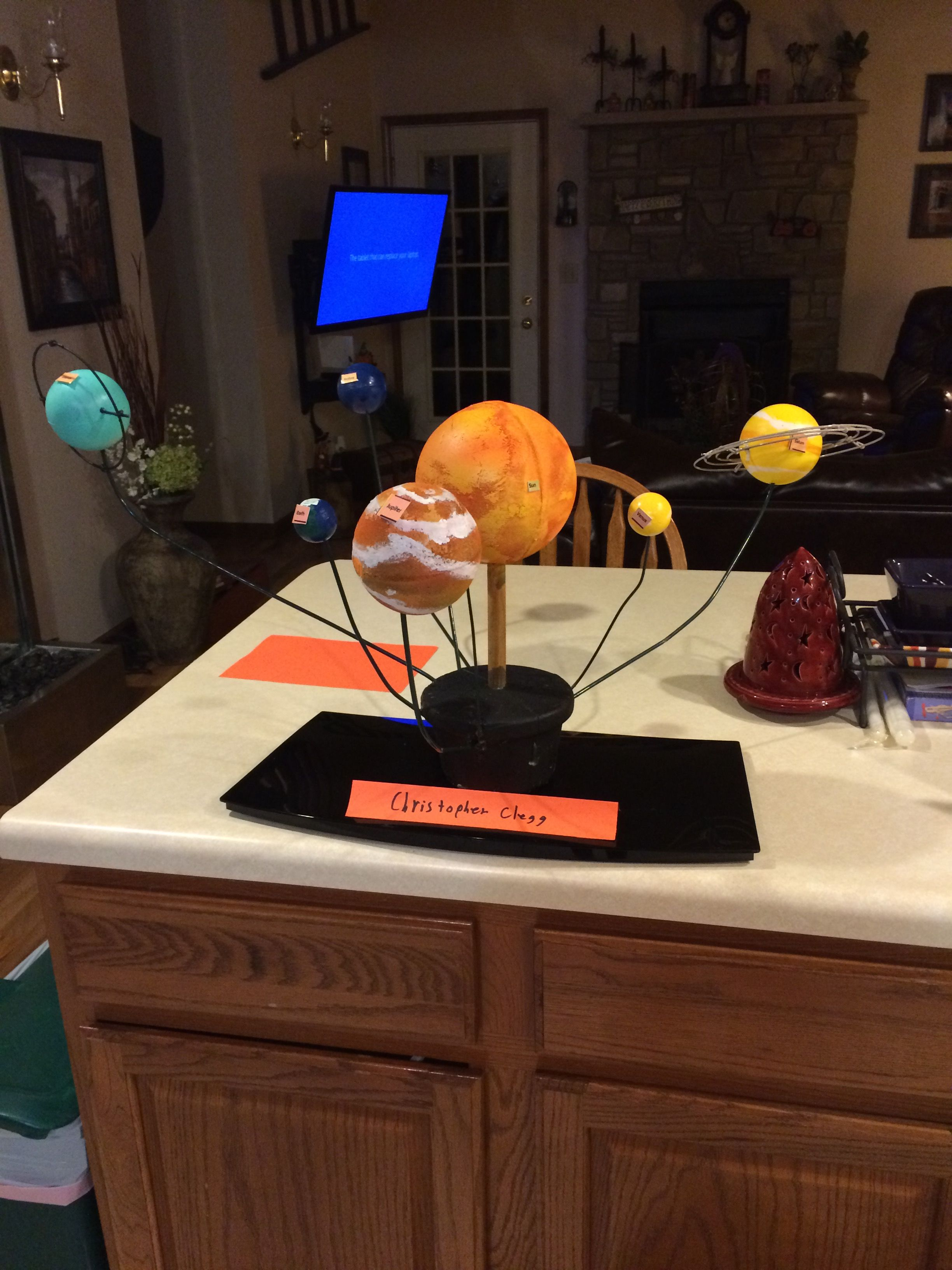 Son S 8th Grade Solar System Project For Science Class