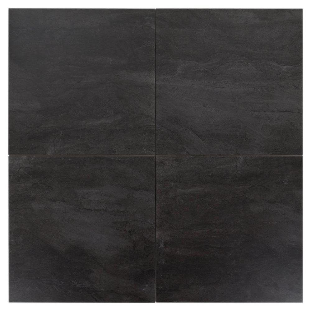 Costa Bella Nero Porcelain Tile Floor Decor In 2020 Stone Look Tile Porcelain Tile Porcelain Floor Tiles