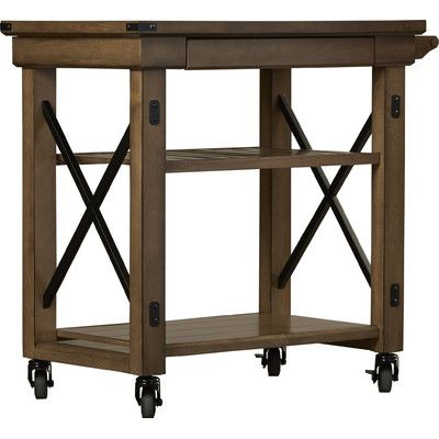Trent Austin Design East Palo Alto Kitchen Cart with Wooden Top ...