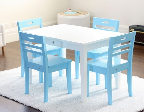 Hip Kids 4 Chairs And Table For Kiddies Play Area Kids Table And Chairs Kid Table Childrens Table