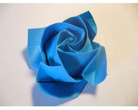 tutorial origami bunga mawar
