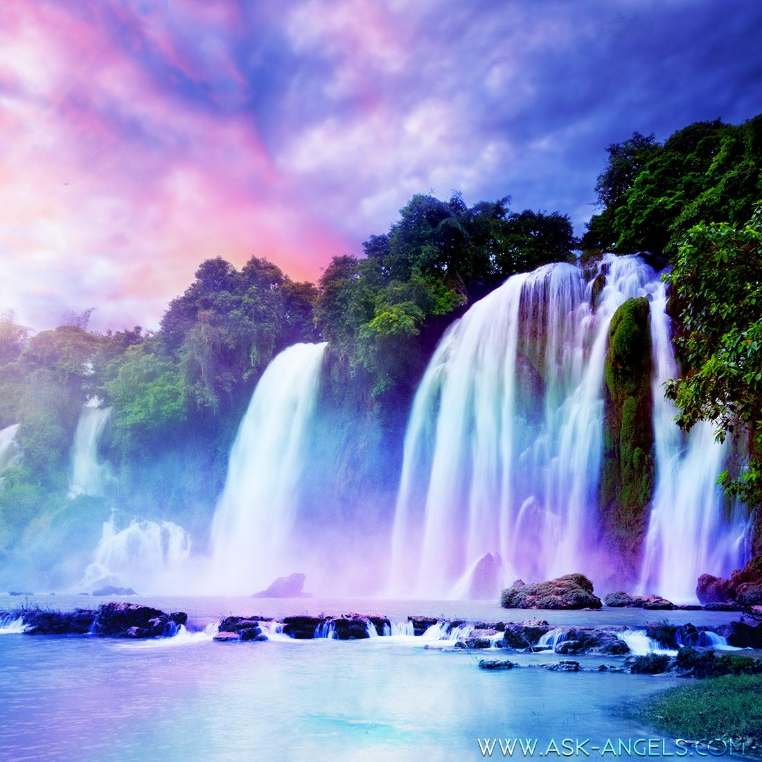 The Waterfall Of Light Meditation Waterfall Waterfall Wallpaper Nature Sounds