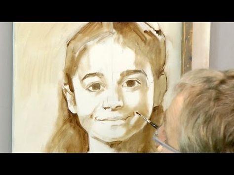 Learn how to start a portrait in oil. Ben Lustenhouwer - YouTube