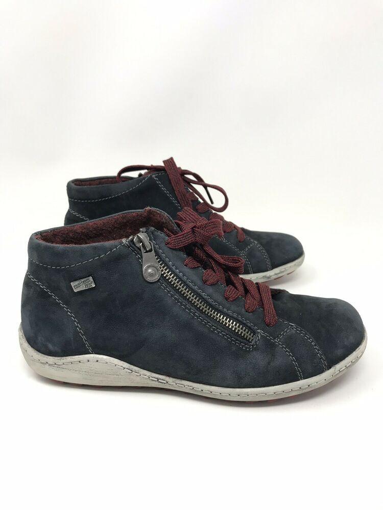 79e93d53d378a Remonte Blue Liv R1470 Pazifik Boot High Top Sneaker Womens Size 38 EUR 7.5  US   eBay