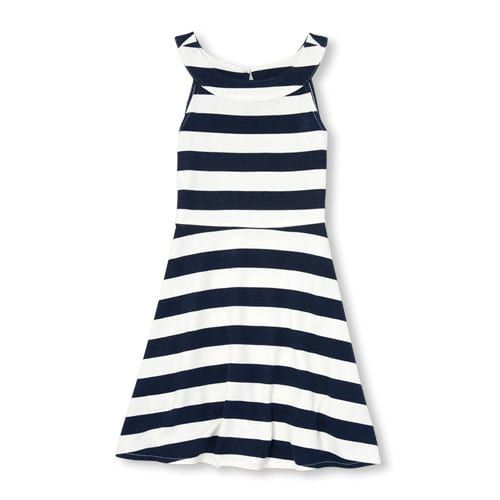 0a3e7602c Girls Sleeveless Striped Ponte Knit Halter Dress   Products in 2019 ...