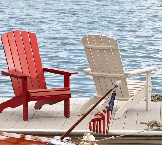 adirondack chair sale outdoor fold up chairs pottery barn pb classic in white black or red 250 on for 200