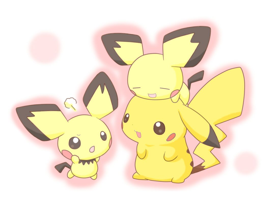 Cute Pichu Pikachu Pokemon Wallpaper