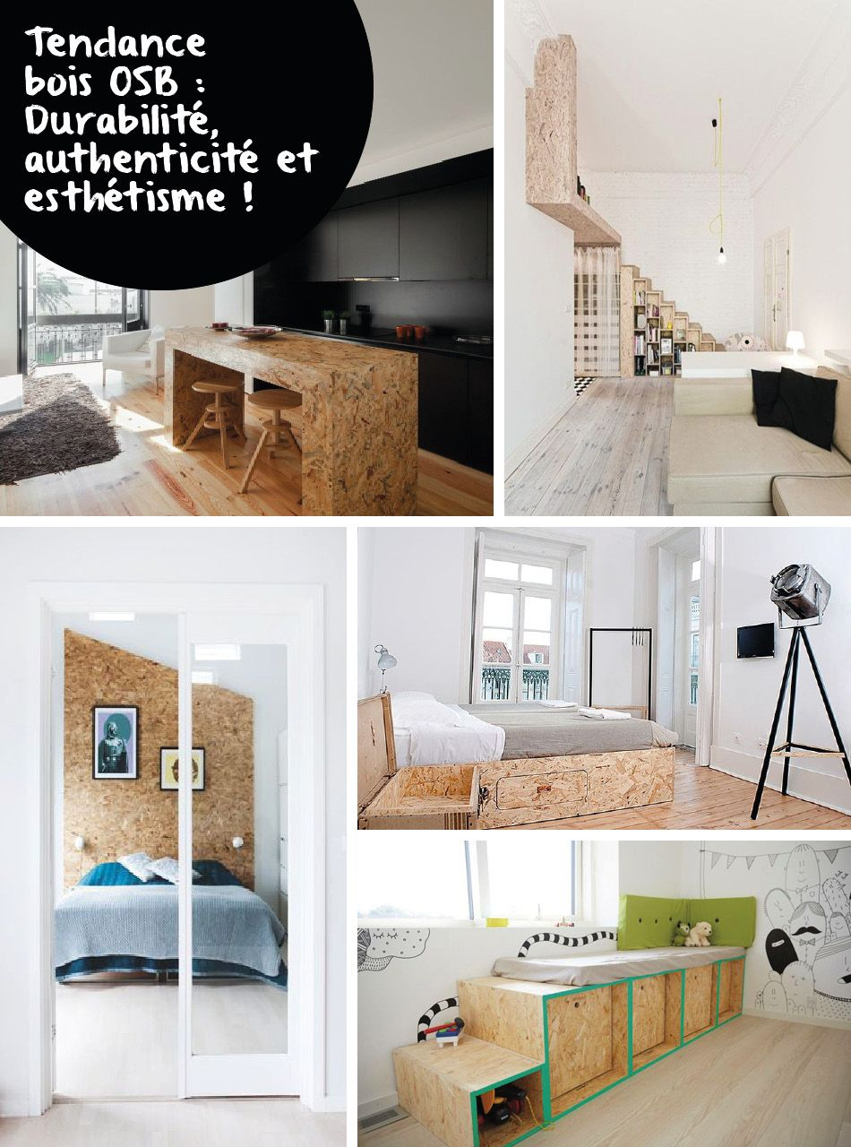 le panneau bois osb une tendance retenir pour la d co bois osb osb et panneau bois. Black Bedroom Furniture Sets. Home Design Ideas