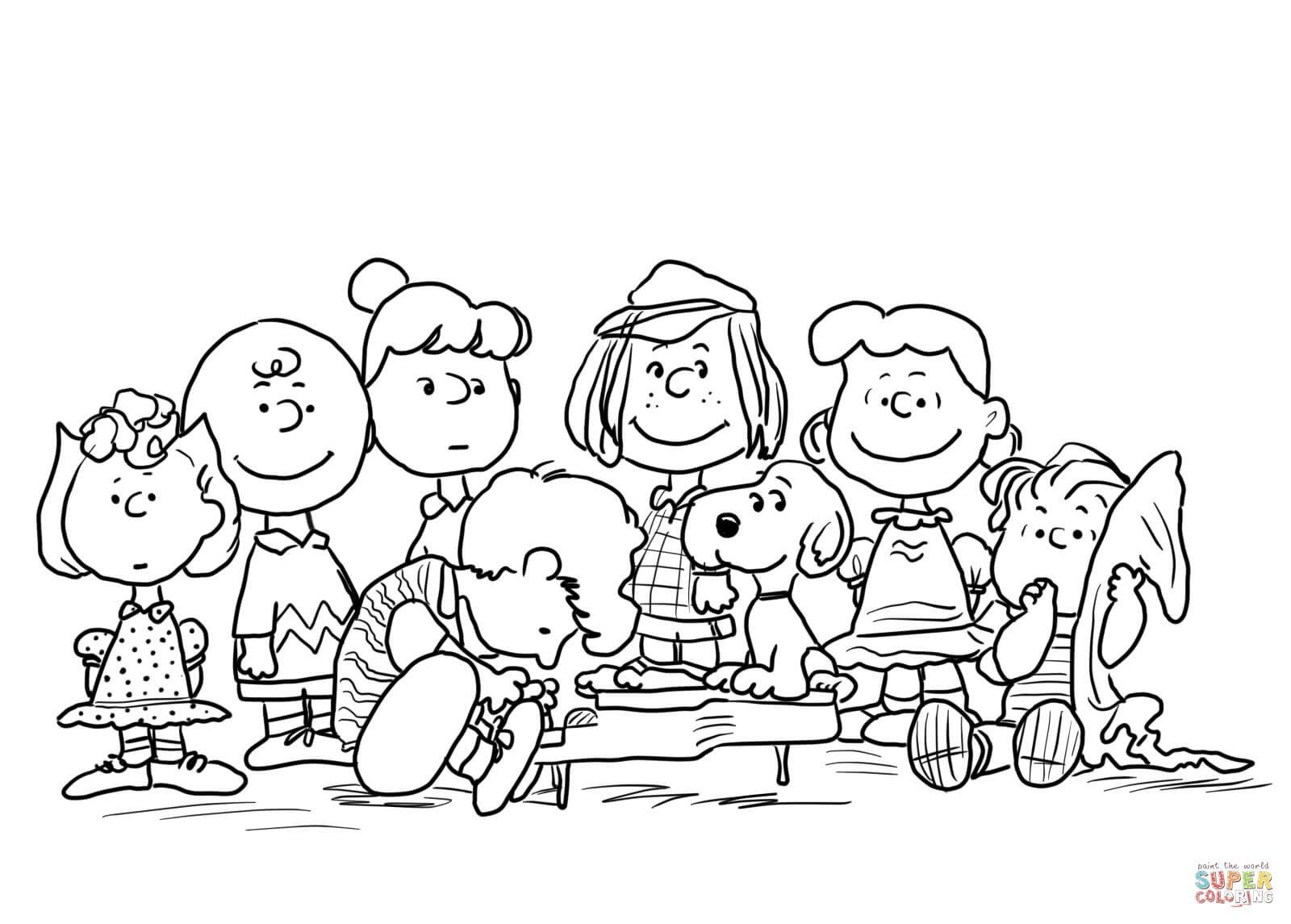 25 Best Image Of Peanuts Coloring Pages Thanksgiving Coloring