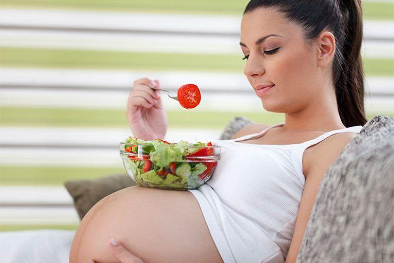 Diät für übergewichtige schwangere Frau