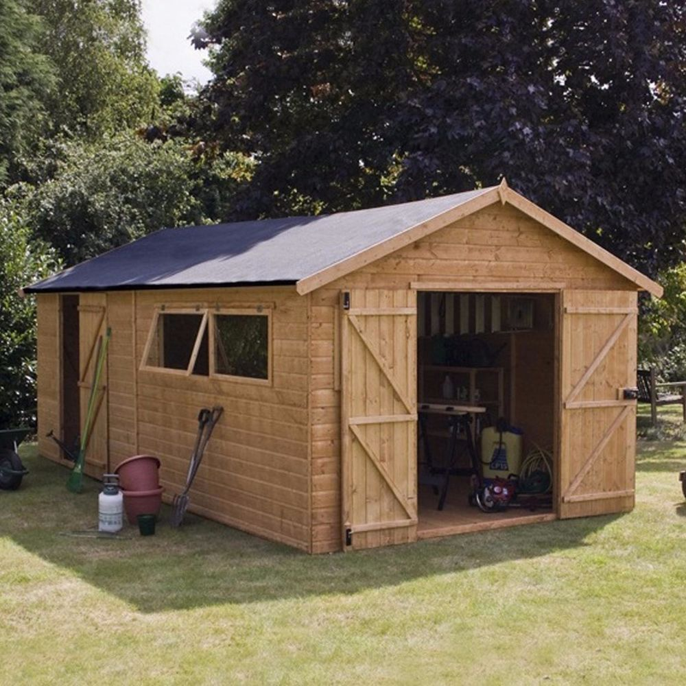 Large Garden Shed 20 X 10ft Premium Shiplap Storage Windows Double Doors Wooden Building A Shed Workshop Shed Wooden Sheds