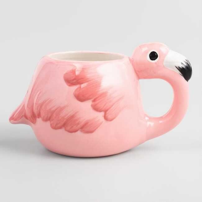 Pink Flamingo Figure Mug