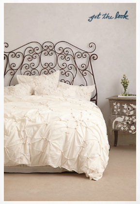 white lacey bedding