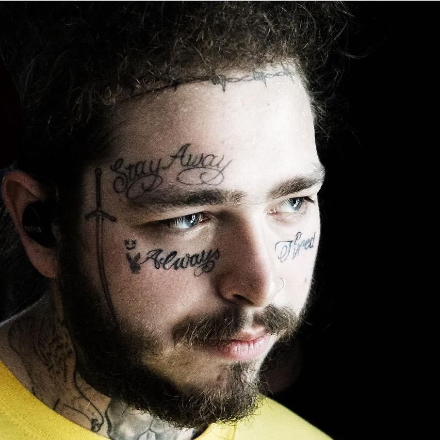 People Can't Get Over Post Malone's New Face Tattoos And
