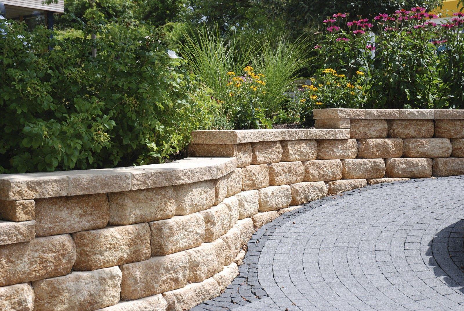 mauer betonsteine rustikal   Google Suche   Garten ...