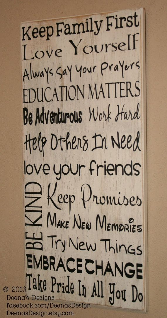 Quote Wall Decor Signs House Rules Sign Subway Art Distressed Wall Decor Custom Wood