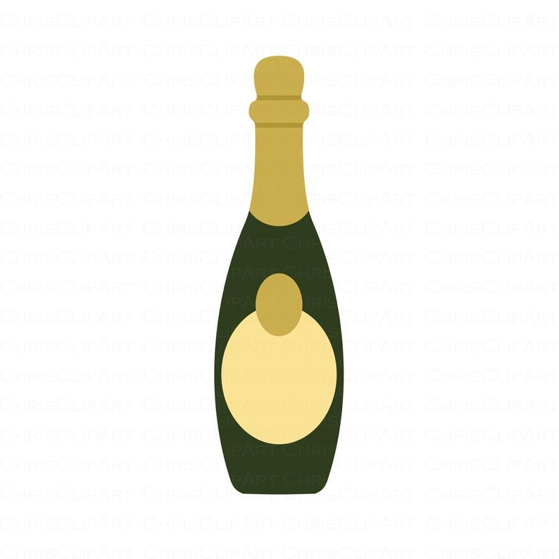 50+ Champagne bottle clipart png information
