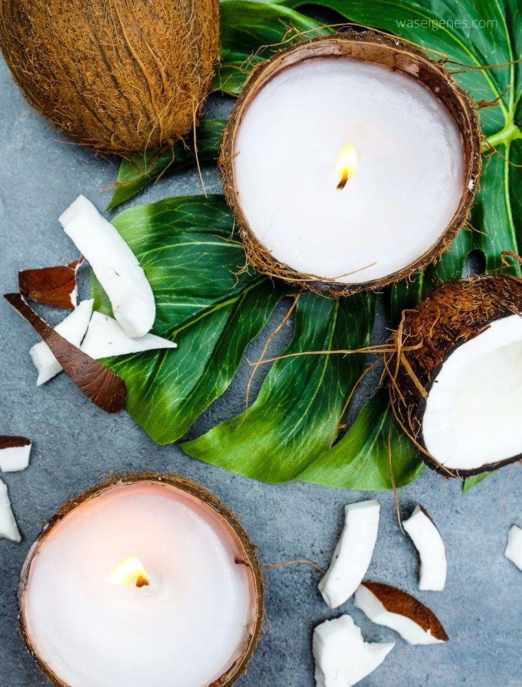 Diy Kokosnuss Kerzen Diy Candles Coconut Decoration Candles