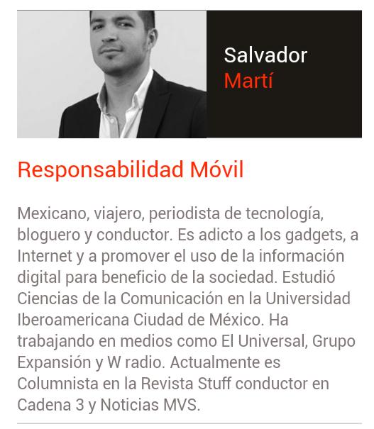 Salvador Martí  Otro de nuestros grandes ponedores 2014, juventud y sabiduría en una sola persona. Conócelo, tiene mucho que aportar en pro de la sociedad.