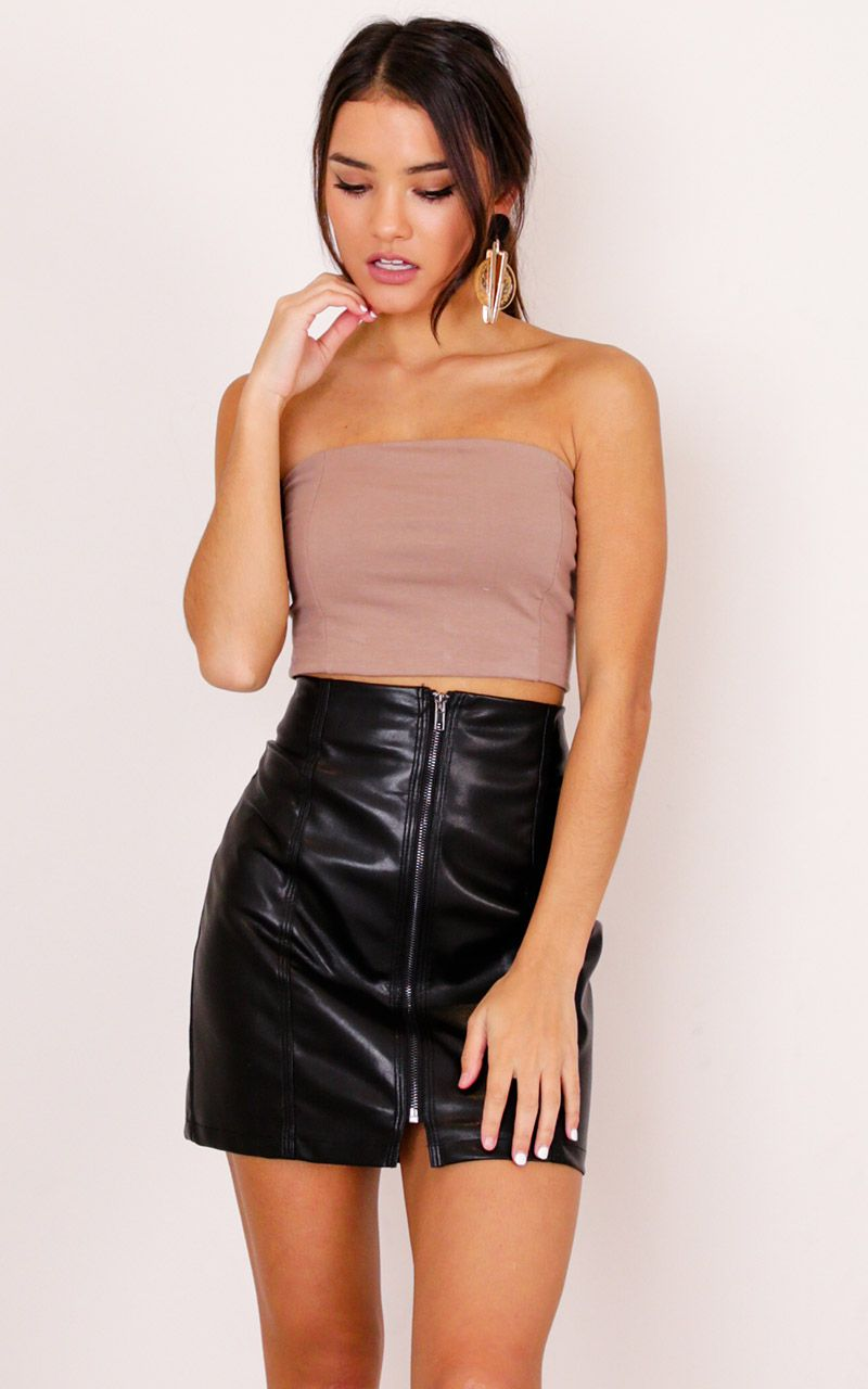 006c5d93c227 In The Light Crop Top In Mocha Produced in 2019 | Models | Crop tops ...