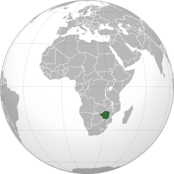 The Republic Of Zimbabwe Over Countries On The African - Republic of zimbabwe map
