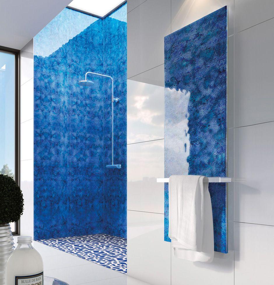 Artisan Glass shower panels | House bath down | Pinterest | Shower ...