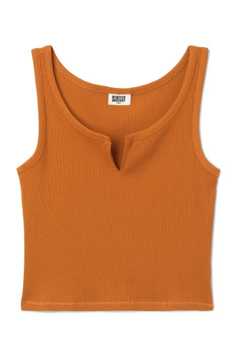Weekday Dannie Tank in Yellow