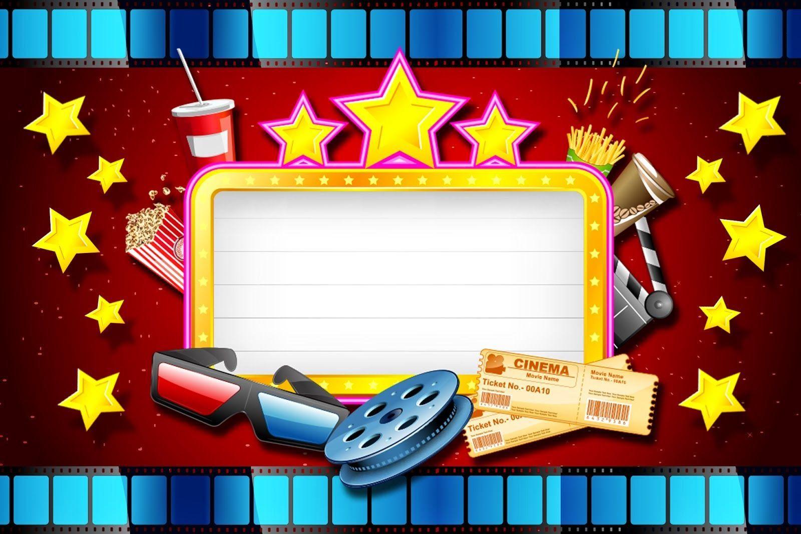 Image Result For Tarjeta De Invitacion De Hollywood En Pdf