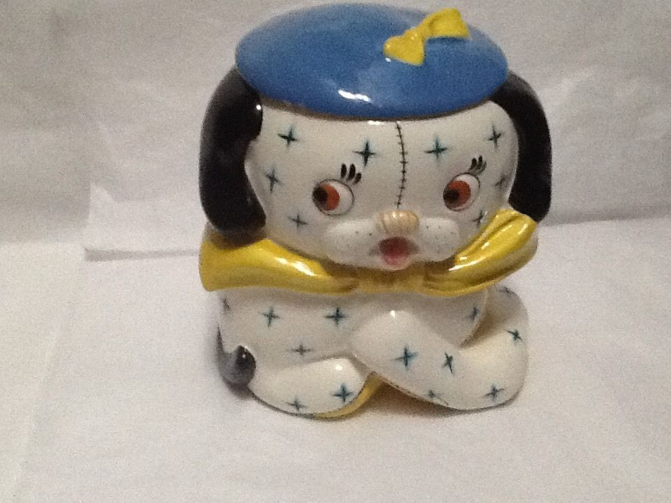 1950's Cookie Jars Simple Vintage Napco K2219 Patchwork Puppy Dog Cookie Jar Art Deco 1950 S Inspiration