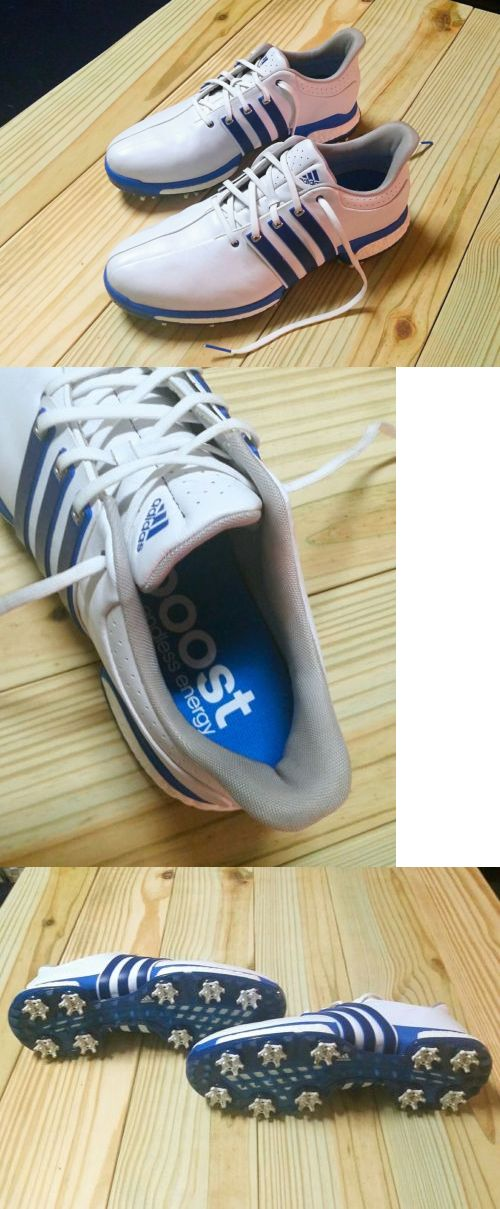f40e9eacf2c9 Golf Shoes 181136  Adidas Tour 360 Boost Golf Shoes • White Shock Blue •  Size