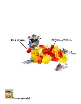 Haribo Gold-Bears Naughty Little Bears Stapler Print Ad