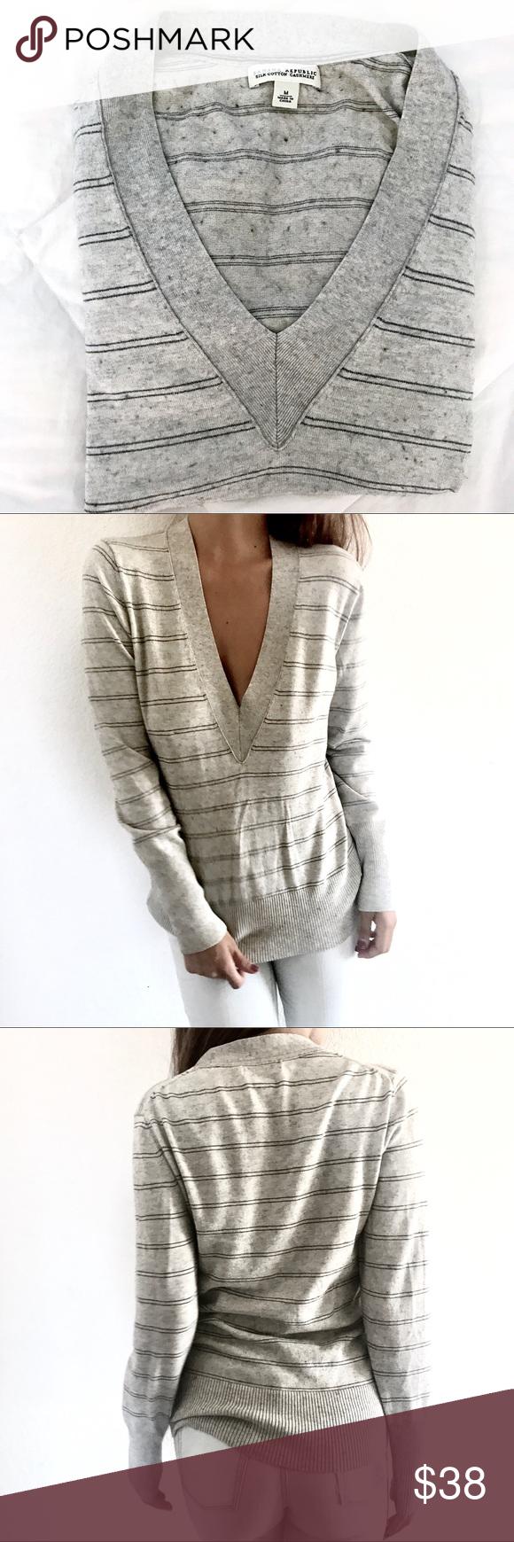 🐩Banana Republic silk-cashmere sweater   Banana republic, Heather ...
