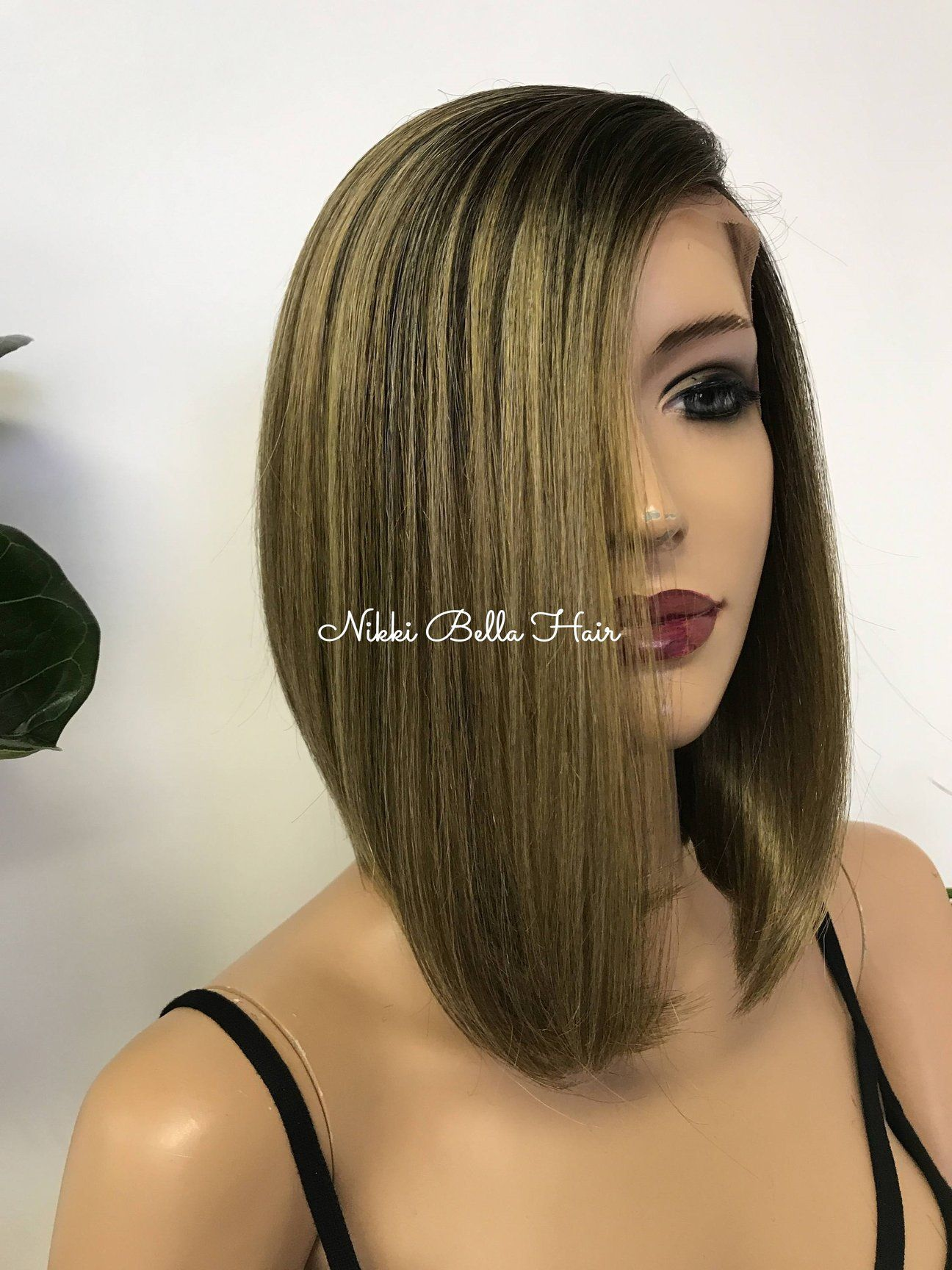 OMBRE Ash Blonde Balayage Swiss Lace Front Wig - A Beautiful Soul 12177 #naturalashblonde