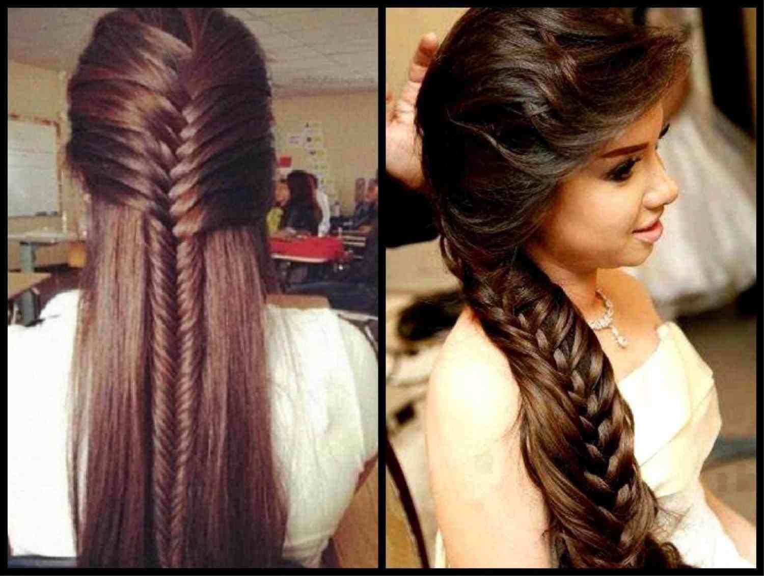 hairstyle for straight hair on saree | Long hair indian girls, Medium hair styles, Short wedding ...