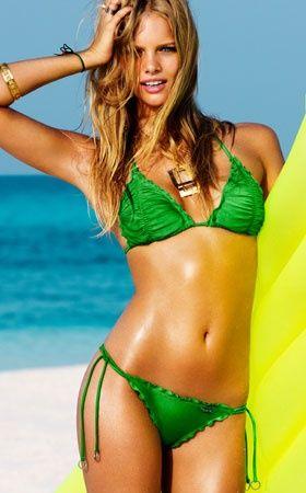 Emerald green bikini