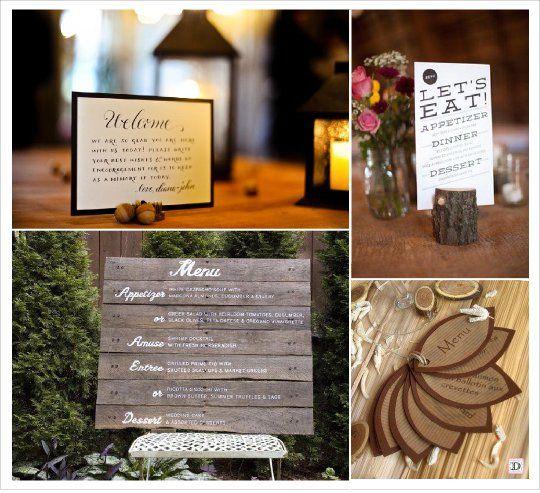 idees menu pr sentation mariage automne foret theme automne pinterest mariage. Black Bedroom Furniture Sets. Home Design Ideas